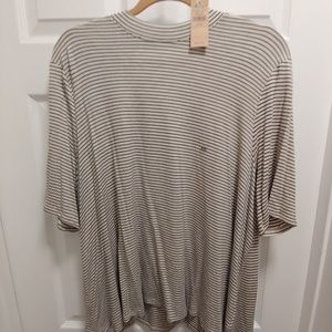 American Eagle Striped Top with Cutout Back